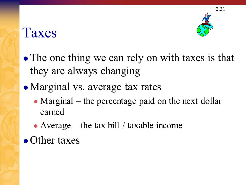 Example: Marginal Vs. Average Rates