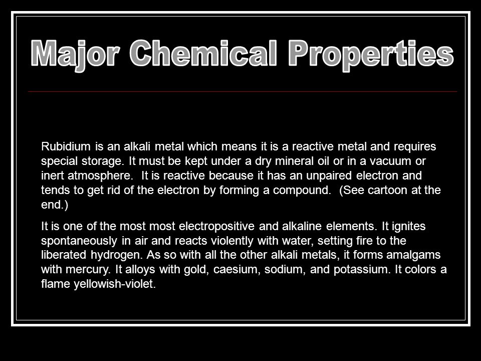 Major Chemical Properties