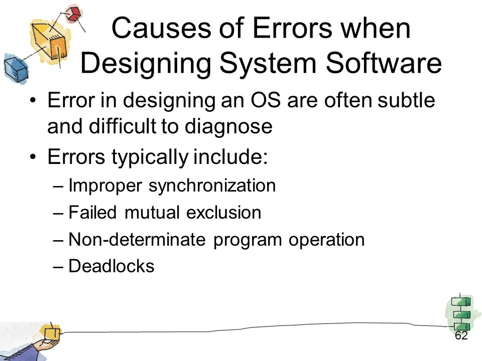 Causes of Errors when Designing System Software