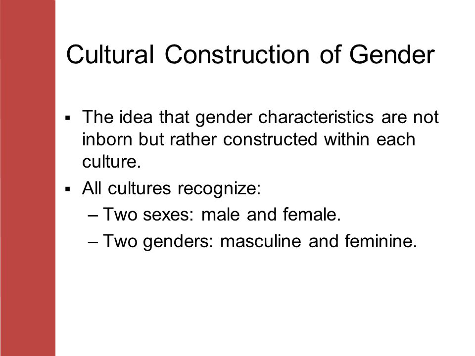 cultural construction of gender