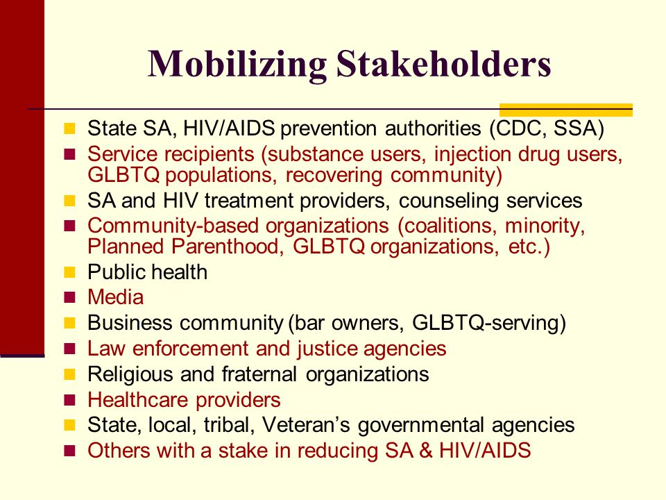 Mobilizing Stakeholders