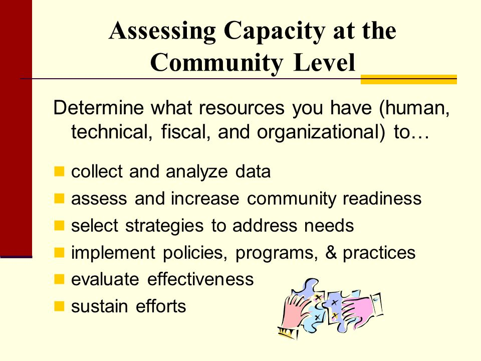 Assessing Capacity at the Community Level