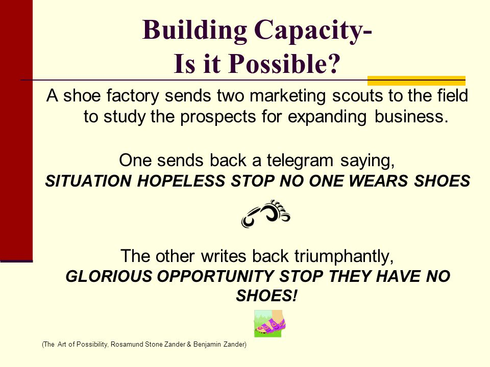 Building Capacity- Is it Possible