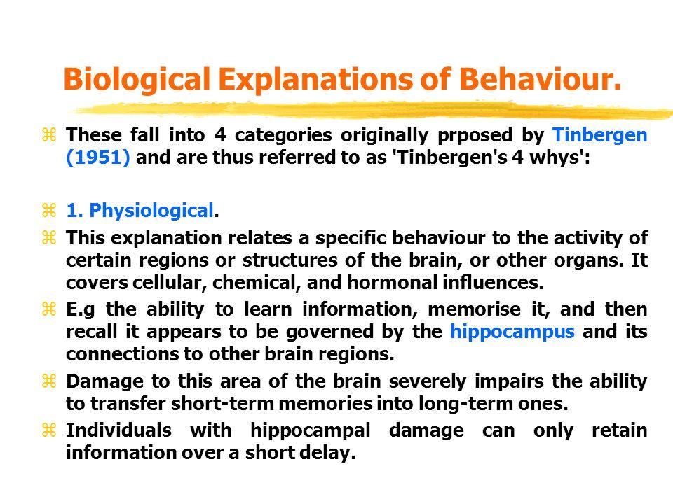 physiological explanation