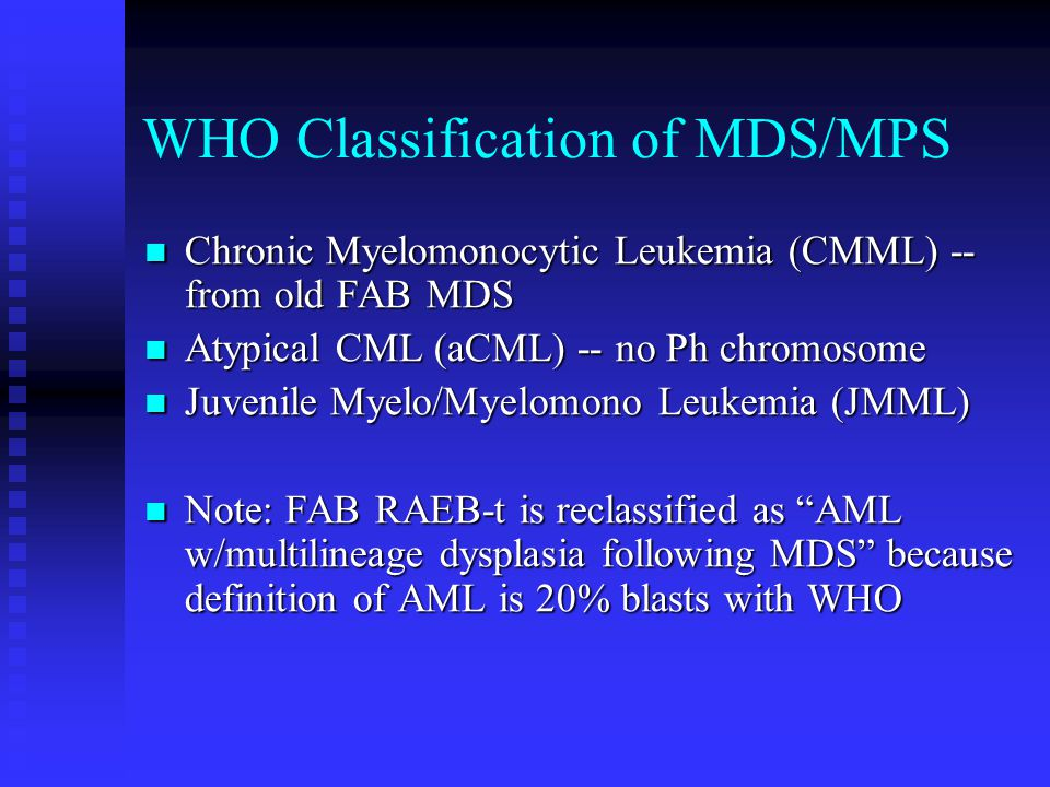 WHO Classification of MDS/MPS
