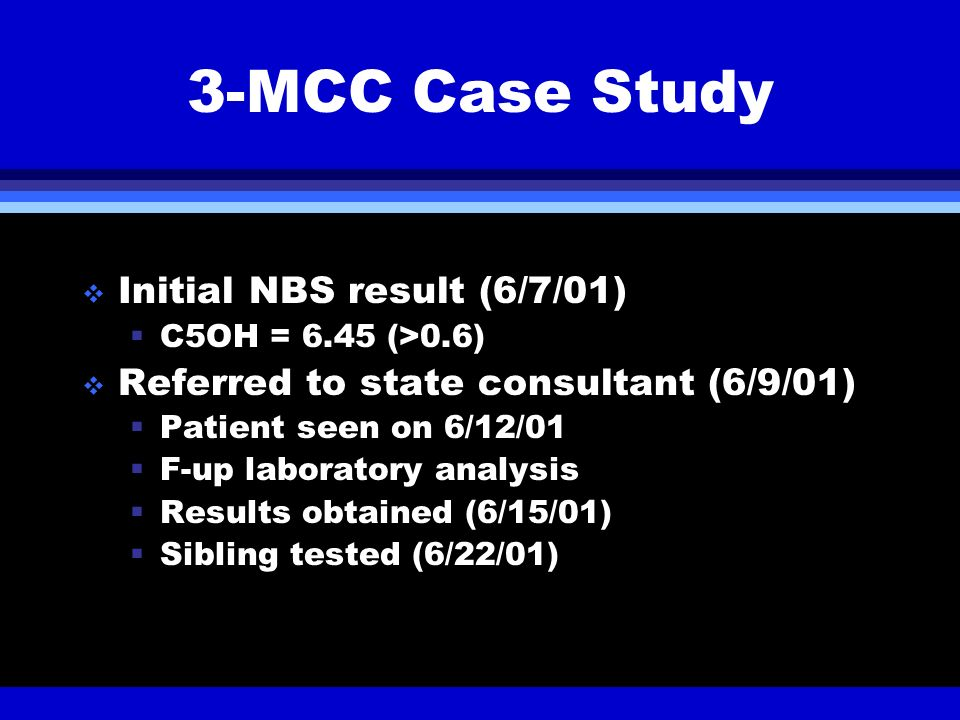 3-MCC Case Study Initial NBS result (6/7/01)