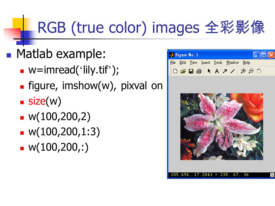Images and MATLAB Source of images: Science&subcategory=Digital