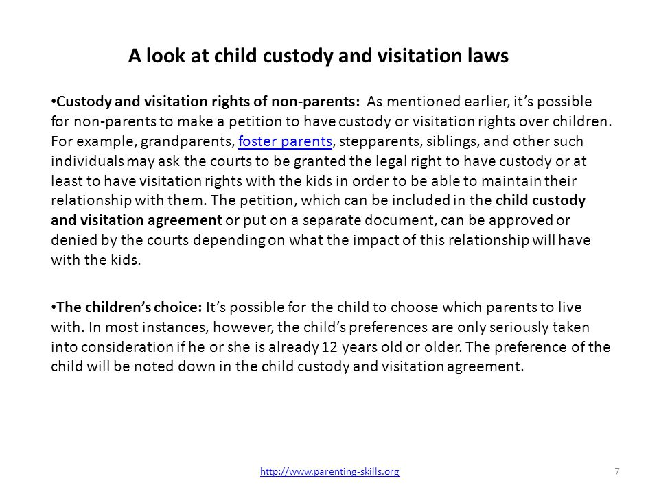 Laws and policies on child custody and visitation agreement ppt a look at child custody and visitation laws thecheapjerseys Images