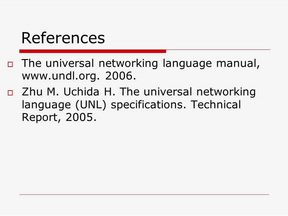 Universal Networking Language ...