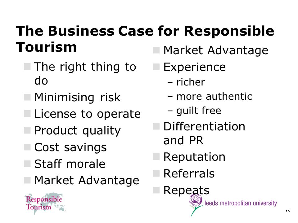 The Business Case for Responsible Tourism