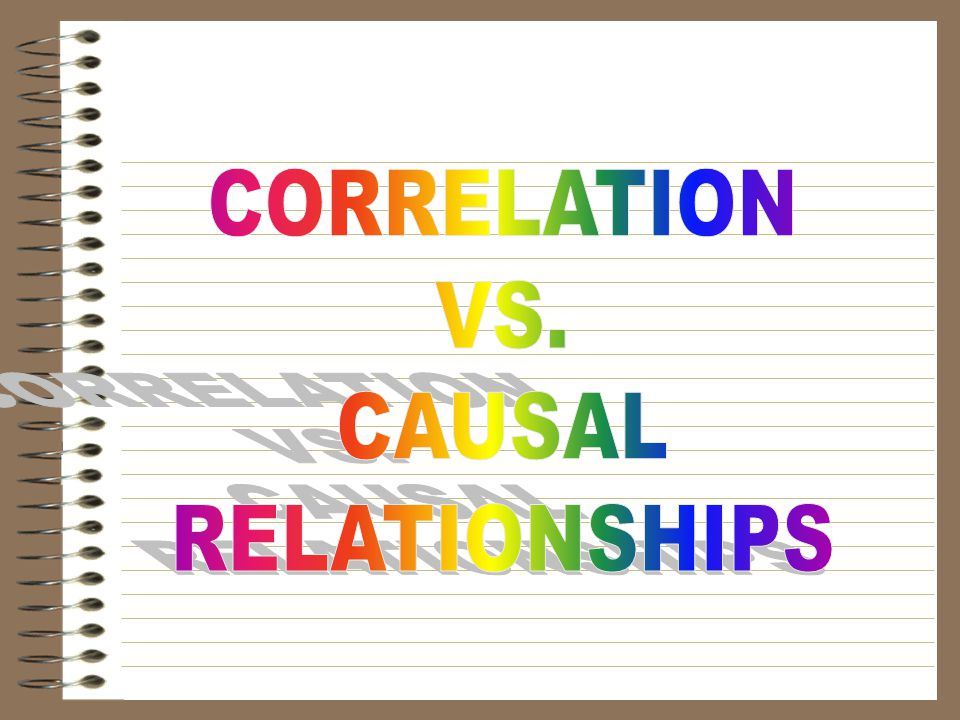 CORRELATION VS. CAUSAL RELATIONSHIPS