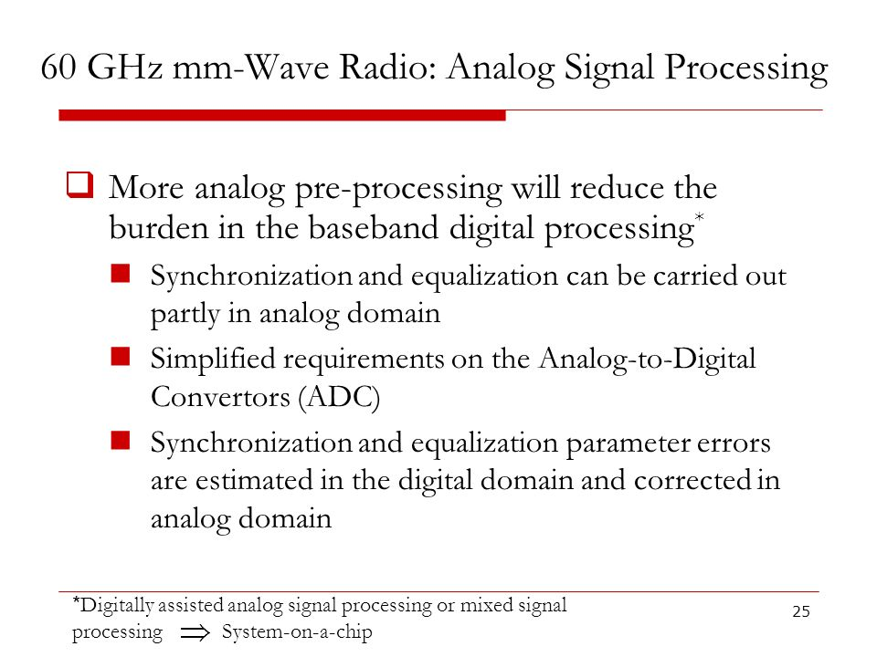 60 GHz mm-Wave Radio: Analog Signal Processing