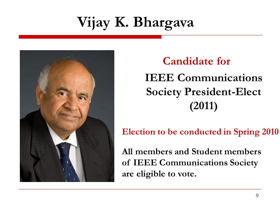 IEEE Communications Society President-Elect (2011)