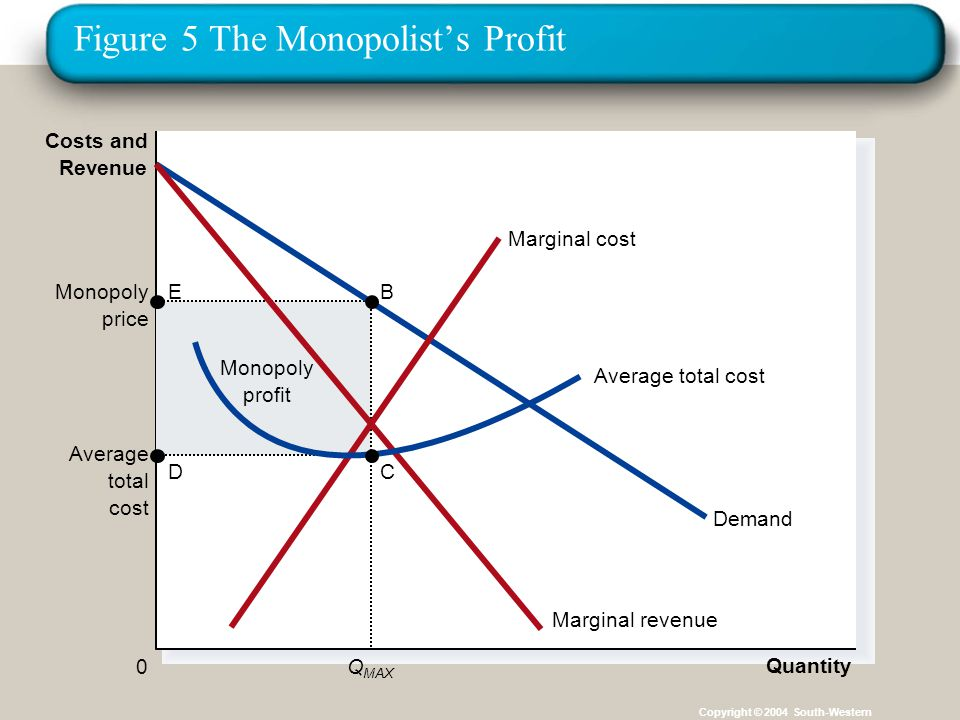 Figure 5 The Monopolist's Profit