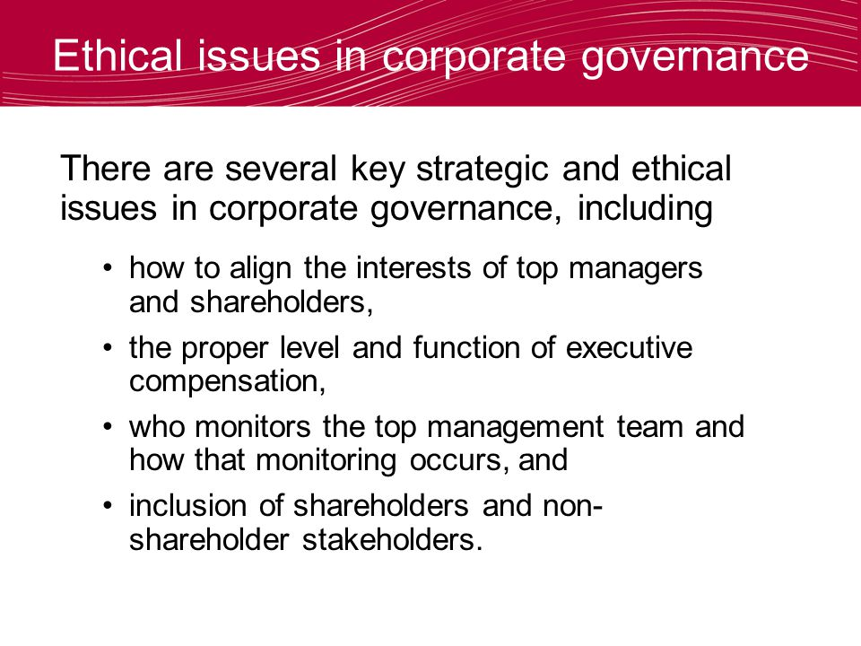 Corporate governance: Why it matters for strategy and ethics