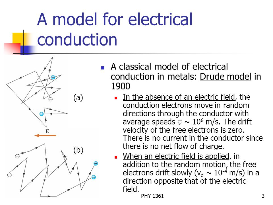 A model for electrical conduction