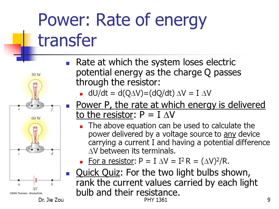 Power: Rate of energy transfer