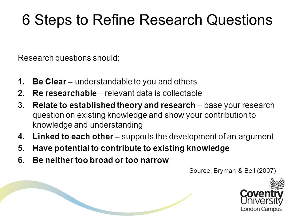 6 Steps to Refine Research Questions