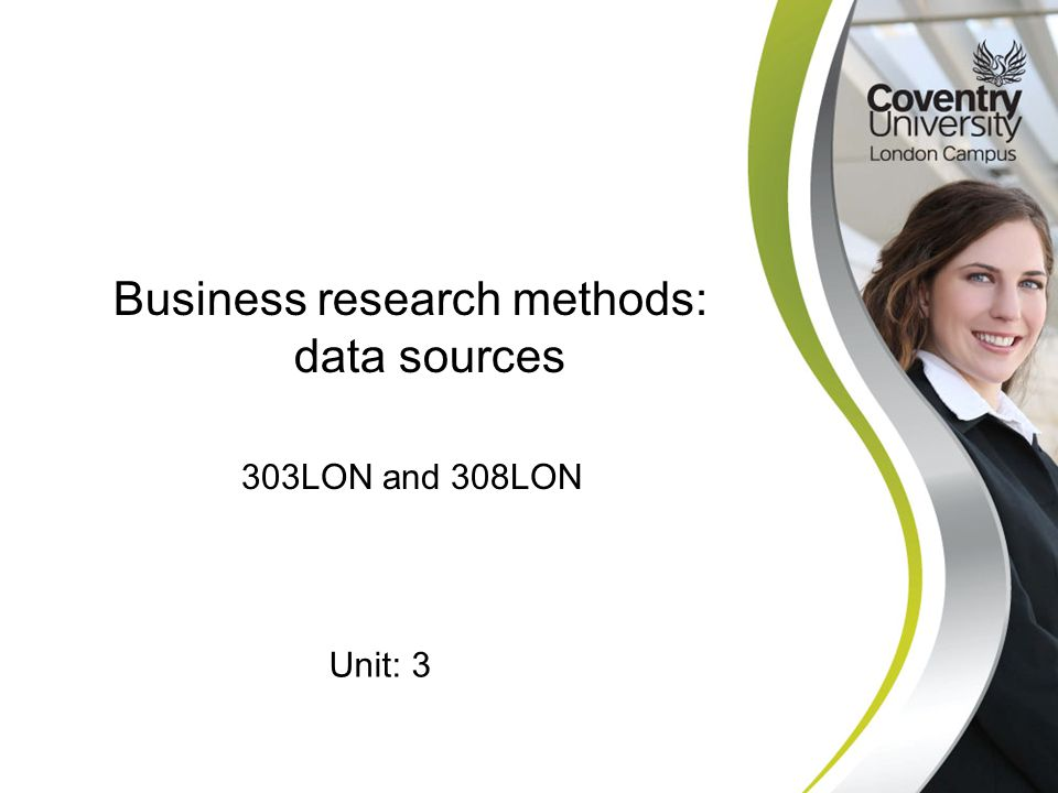 Business research methods: data sources