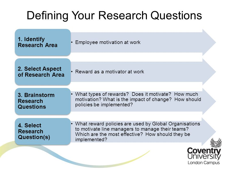 Defining Your Research Questions