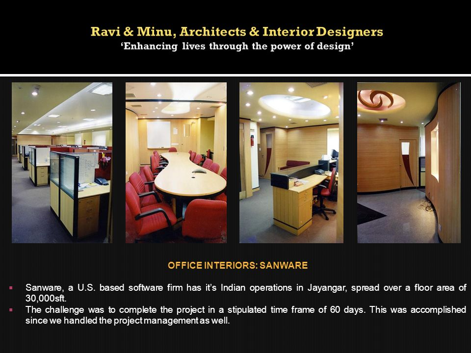 OFFICE INTERIORS: SANWARE