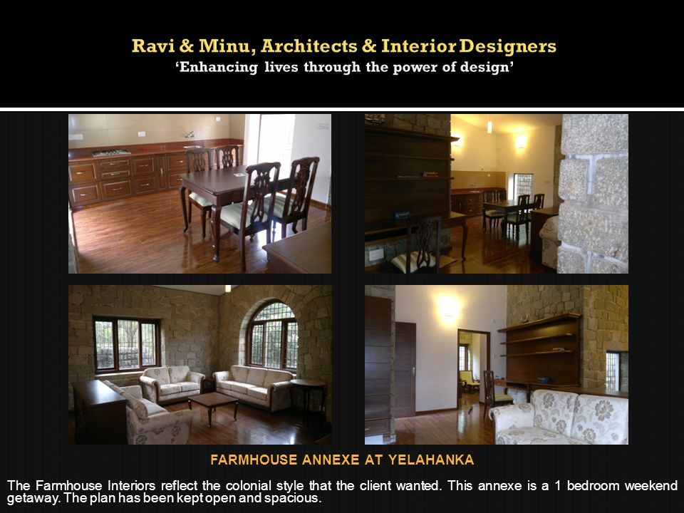 FARMHOUSE ANNEXE AT YELAHANKA