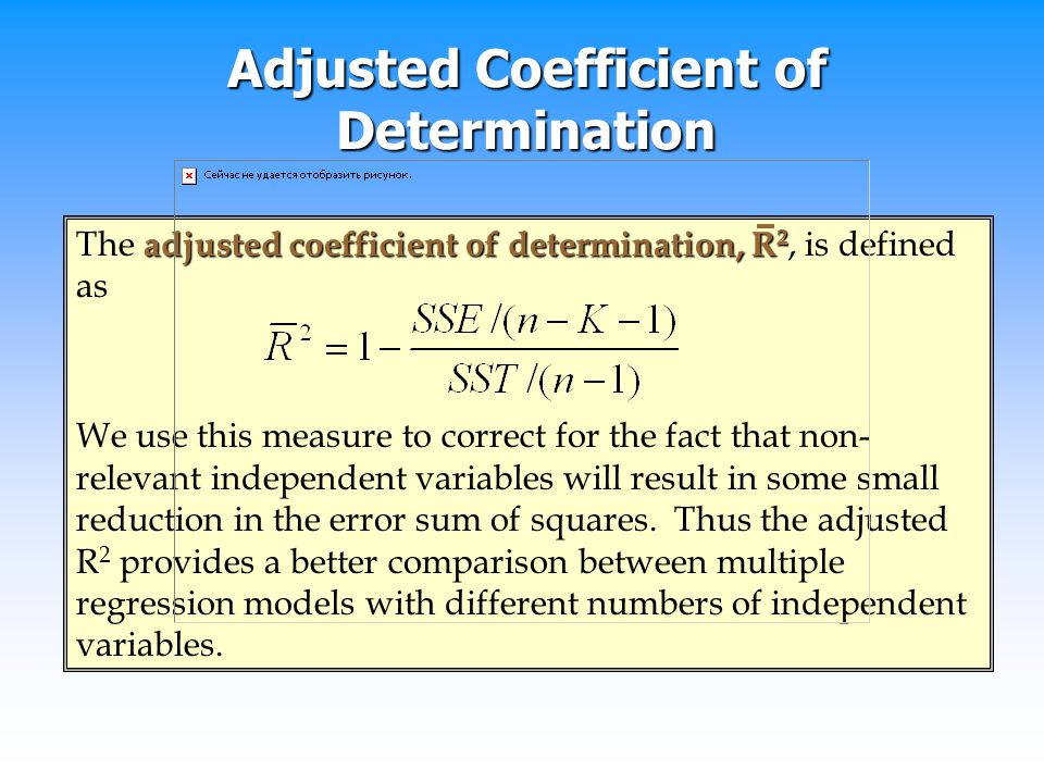 Adjusted Coefficient of Determination