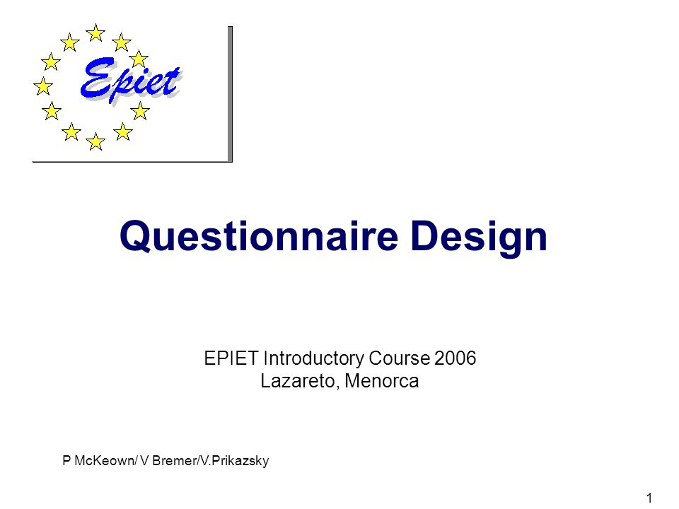 EPIET Introductory Course ppt download