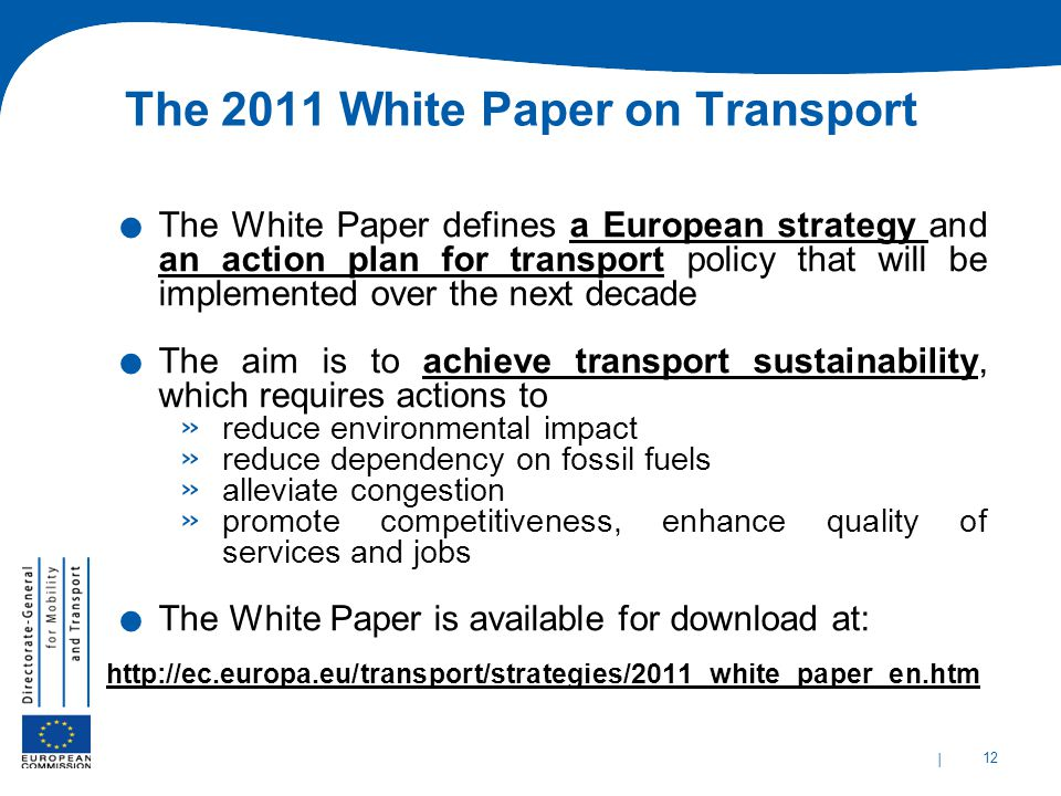 The 2011 White Paper on Transport