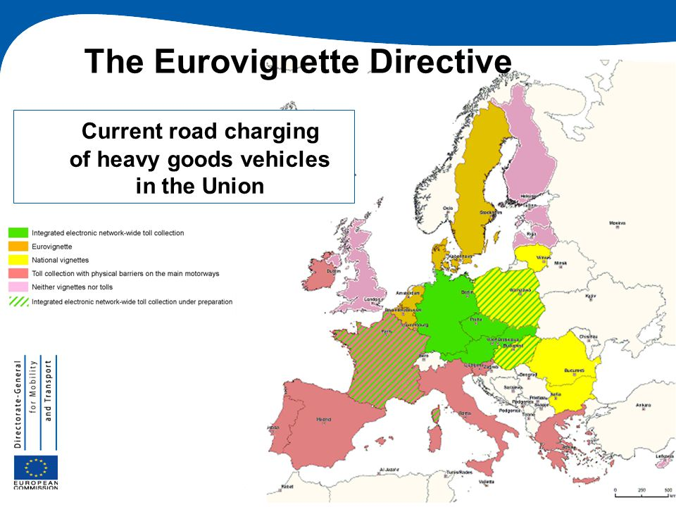 Current road charging of heavy goods vehicles in the Union