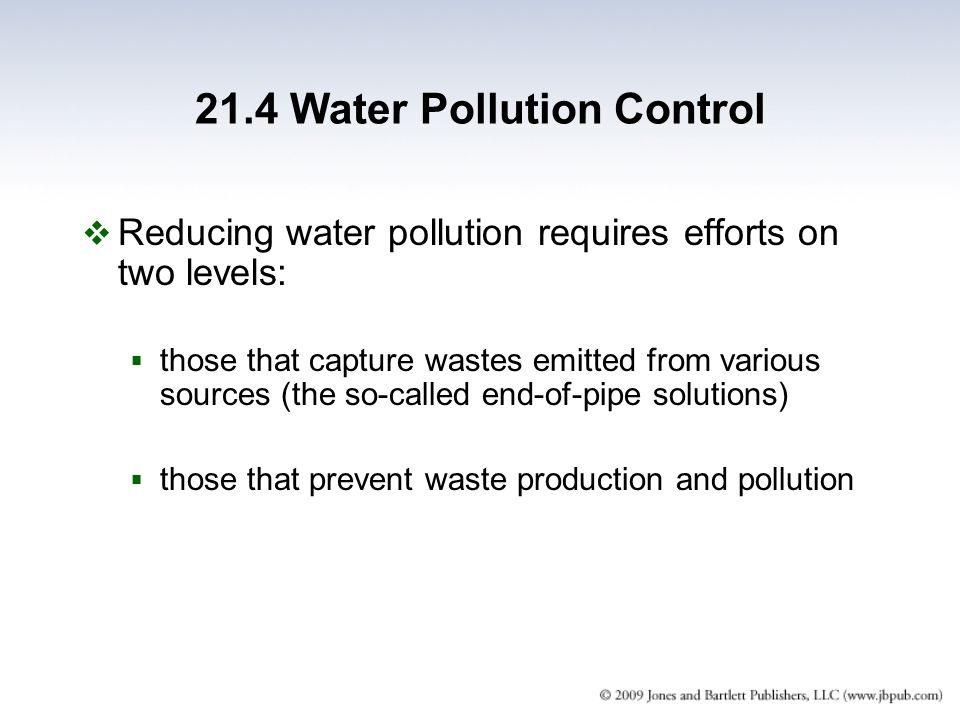 21.4 Water Pollution Control