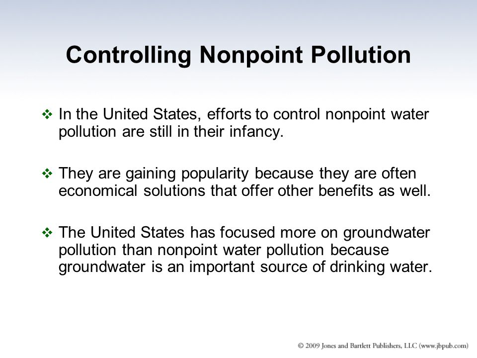 Controlling Nonpoint Pollution