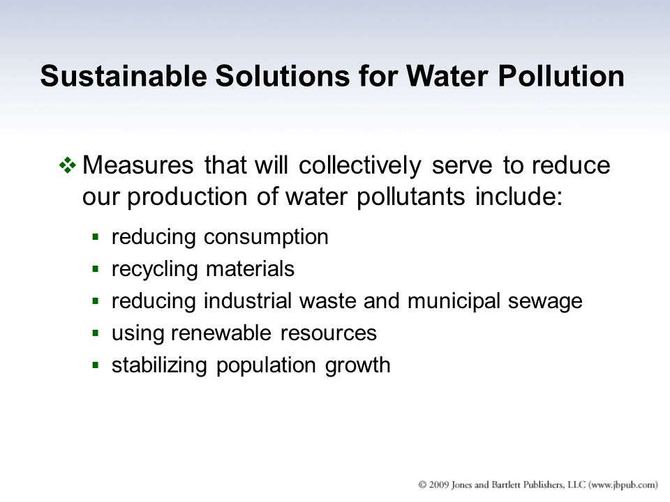 Sustainable Solutions for Water Pollution