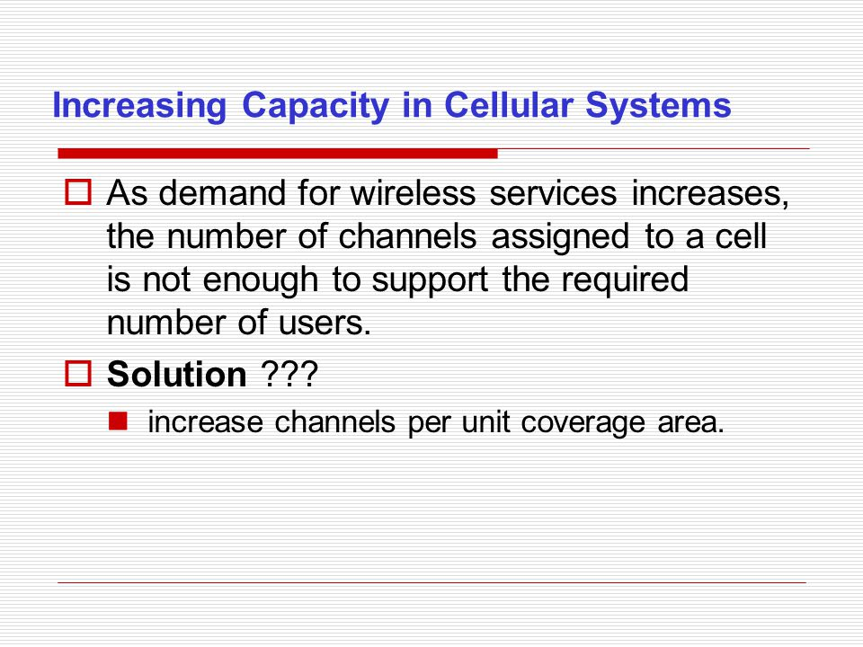 Improving coverage and capacity in cellular systems.