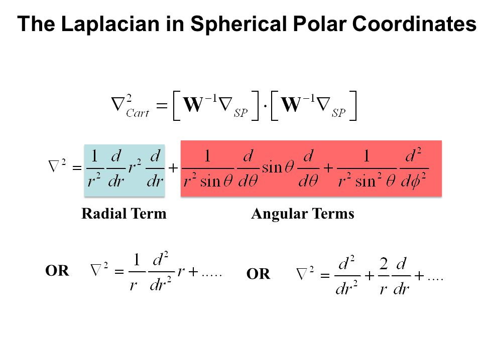 The Laplacian in Spherical Polar Coordinates