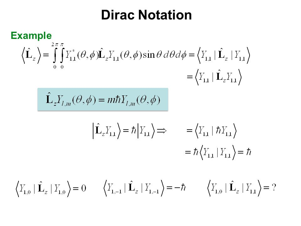 Dirac Notation Example