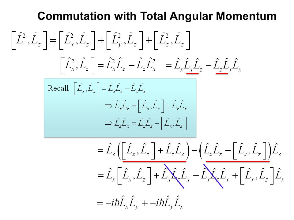 Commutation with Total Angular Momentum