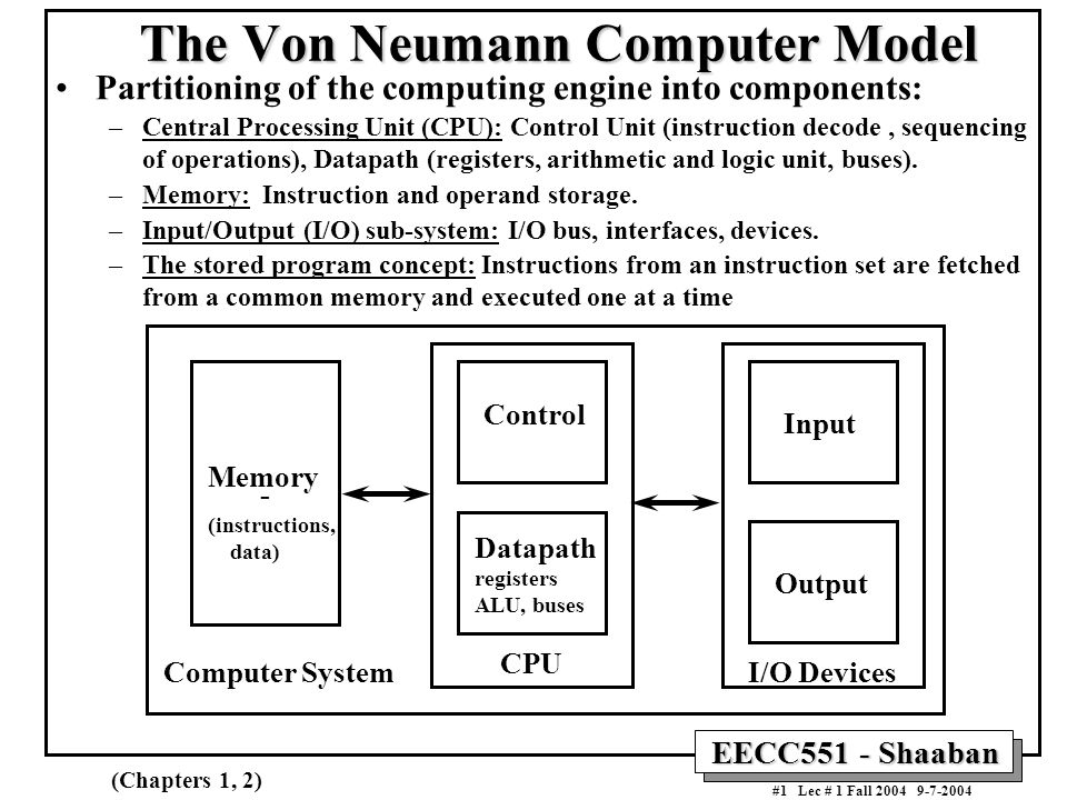 The Von Neumann Computer Model