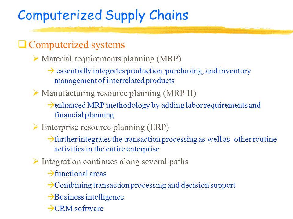 Chapter 8 Supply Chain Management & Enterprise Resource