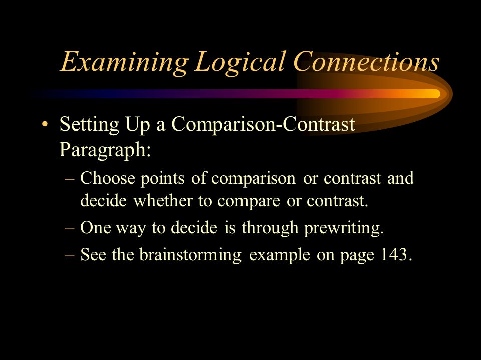 writing a comparison and contrast paragraph examples