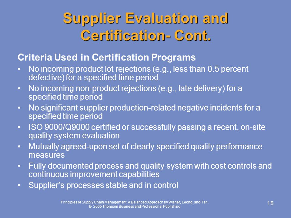 CHAPTER 3- CREATING & MANAGING SUPPLIER RELATIONSHIPS - ppt download