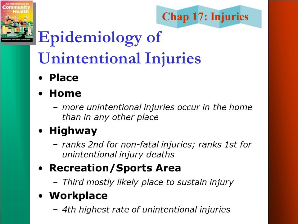 Epidemiology of Unintentional Injuries