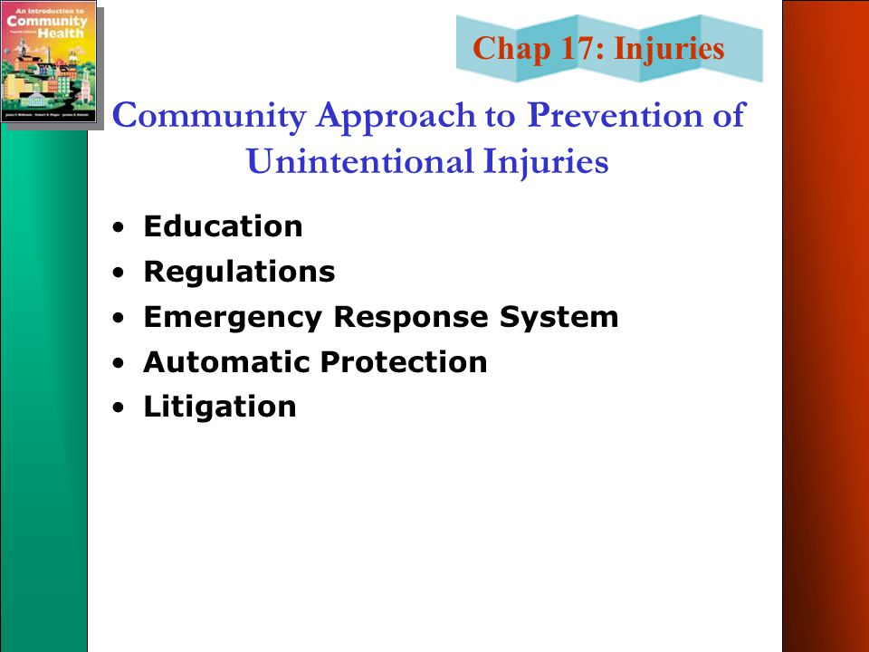 Community Approach to Prevention of Unintentional Injuries