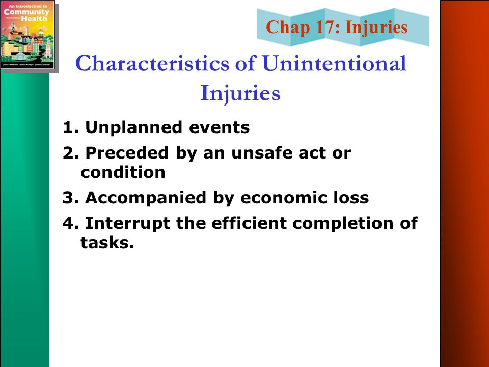 Characteristics of Unintentional Injuries