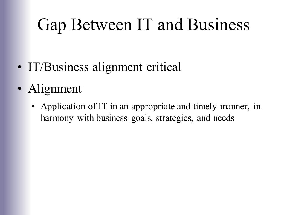 Gap Between IT and Business