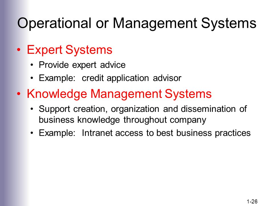 Operational or Management Systems