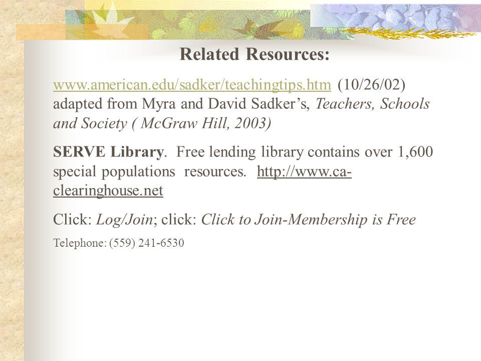 Related Resources: