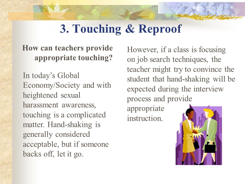 How can teachers provide appropriate touching