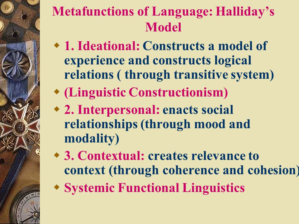 Metafunctions of Language: Halliday's Model