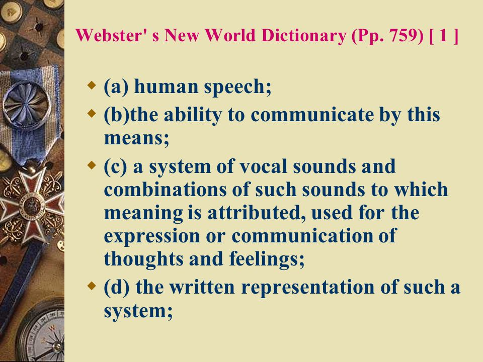 Webster s New World Dictionary (Pp. 759) [ 1 ]